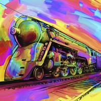 Pop Art - Train Fine Art Print