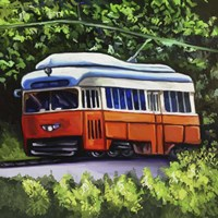 Orange Trolley Fine Art Print