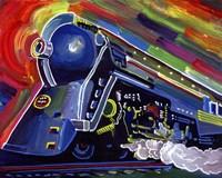 Pop Art Blue Train Fine Art Print