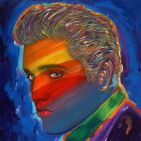 Elvis Rainbow Fine Art Print