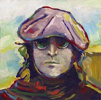 John Lennon Hat Fine Art Print