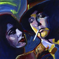 Robert Mitchum Film Noir Fine Art Print