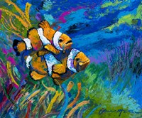 The First Date - Smiling Clownfish Fine Art Print