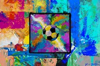 Window into the Soccer Universe - Pink and Cyan Football Fine Art Print
