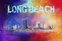 Sending Love To Long Beach Fine Art Print