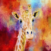 Jazzy Giraffe Fine Art Print
