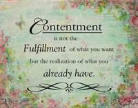 Contentment (floral theme) Fine Art Print