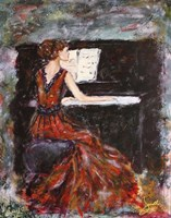 Playing Chopin Fine Art Print