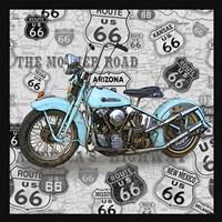 Vintage Motorcycles on Route 66-E Fine Art Print