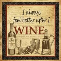 Better after Wine Fine Art Print