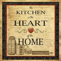 Kitchen Heart Vignette Fine Art Print