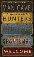 License Plates - Man Cave Fine Art Print