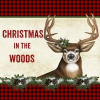 Christmas in the Woods - Deer Fine Art Print