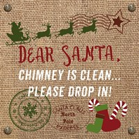 Christmas on Burlap - Dear Santa Fine Art Print