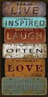 Laugh Live Inspired License Plate Fine Art Print