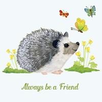 Forest Friends - Hedgehog Fine Art Print