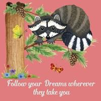 Forest Friends - Raccoon Fine Art Print