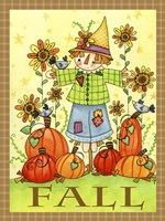 Scarecrow Friends Fine Art Print
