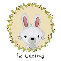 Be Curious Rabbit Fine Art Print