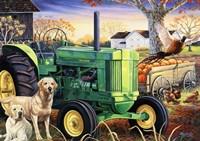 John Deer Pups Fine Art Print