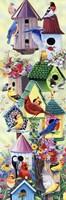 Birdhouses and birds tower Fine Art Print