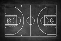 Basketball Court Chalkboard Background Fine Art Print