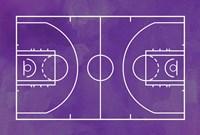 Basketball Court Purple Paint Background Fine Art Print