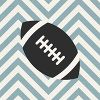 Eat Sleep Play Football - Blue Part I Fine Art Print