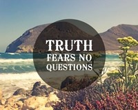 Truth Fears No Questions - Sea Shore Fine Art Print