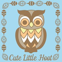 Cute Little Hoot Boy Fine Art Print