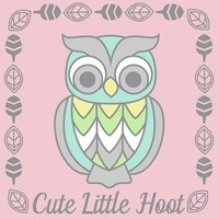 Cute Little Hoot Girl Fine Art Print