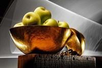 Apple In A Gold Bowl Fine Art Print