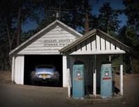 Gas Pump Find Jaguar Xke Fine Art Print