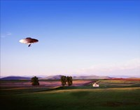 Montana Flying Saucer Fine Art Print