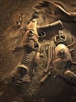 Rayguns On Mars Fine Art Print