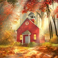 Little Red Schoolhouse Fine Art Print