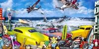 Seaside Shark Surfing Fine Art Print