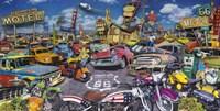 Bikes & Cars Fine Art Print