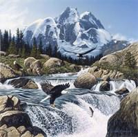 Fishing At Eagle Rocks Fine Art Print