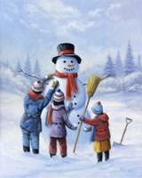 Snowman III Fine Art Print