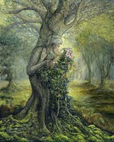 Dryad And The Tree Spirit Fine Art Print