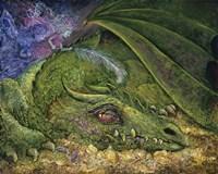 Never Tickle A Sleeping Dragon Fine Art Print