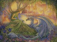 The Dryad and The Dragon Framed Print