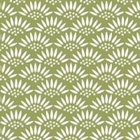 Geo Petal Green Fine Art Print