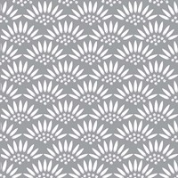 Geo Petal Grey Fine Art Print
