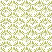 Geo Petal White-Green Fine Art Print