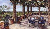 Vineyard Veranda Fine Art Print