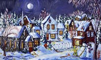 Winter Weekend Evening Fine Art Print