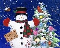 Let it snow man Fine Art Print