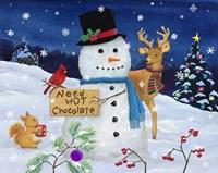 Hot Chocolate Snowman Fine Art Print